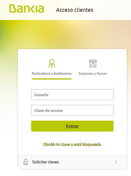 Recargar Bankia 2